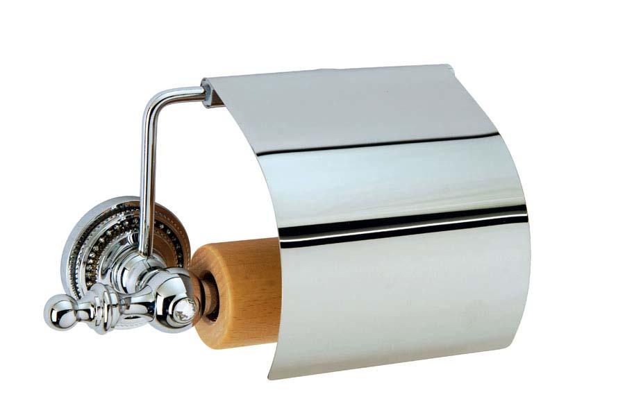 Держатель для туалетной бумаги с крышкой Brillante