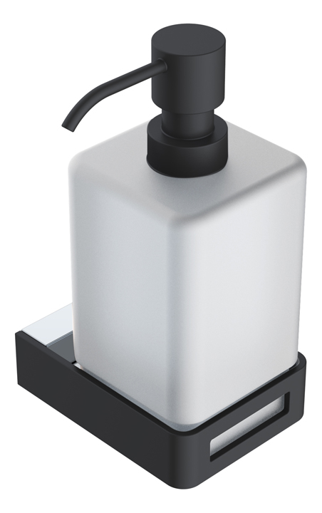 диспенсер для жидкого мыла Chrome & Black коллекция Q