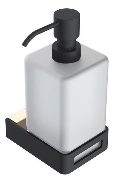 диспенсер для жидкого мыла Gold & black коллекция Q