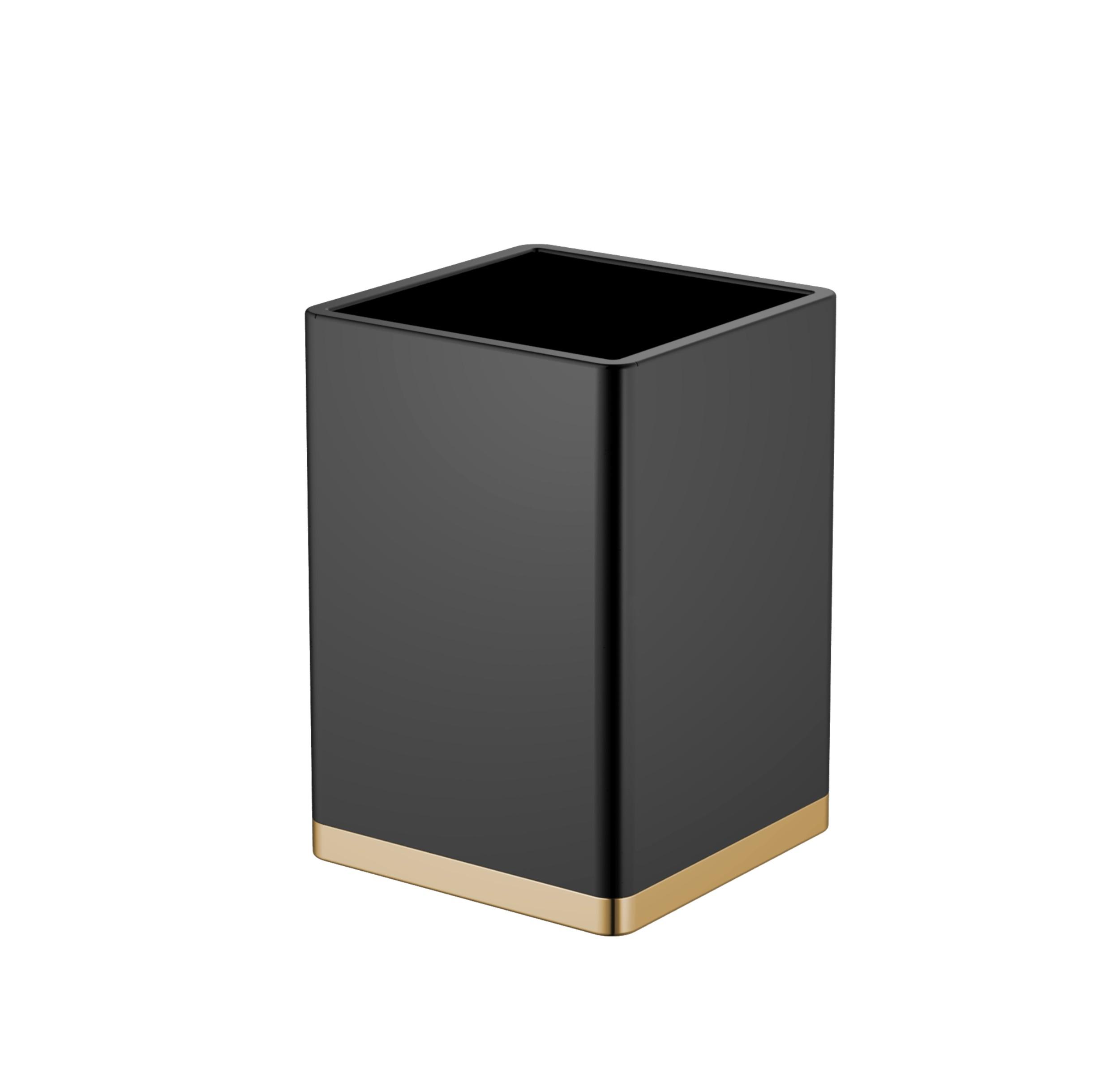 Стакан черный-золото