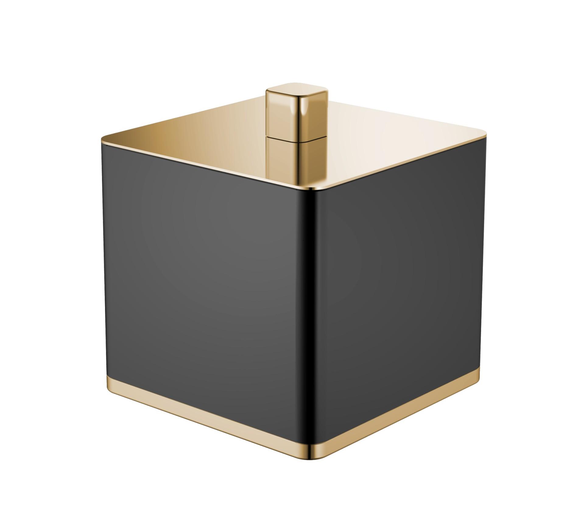 Стакан для ваты черный-золото