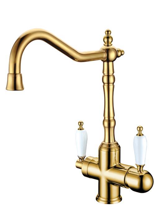 Смеситель для кухни TRADIZIONALE ORO  c краном для питьевой воды