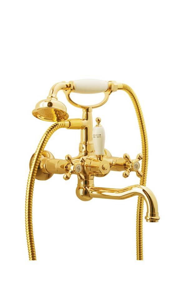 Смеситель для ванны(душевой комплект) Tradizionale Oro