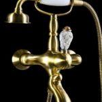 Смеситель для ванны(душевой комплект) CRYSTAL Бронза (одноручковый)