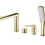 Смеситель врезной на борт ванны VENTURO золото