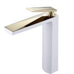 Смеситель для умывальника Venturo белый-золото