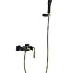Смеситель для ванны с душ.гарнитуром VENTURO черный-золото