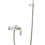 Смеситель для ванны с душ.гарнитуром VENTURO белый-золото