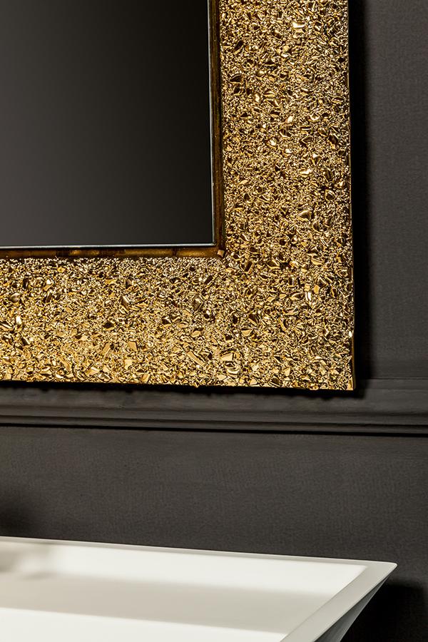 Зеркало AURA 60*90 золото, с подсветкой