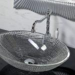 Хрустальная раковина прозрачная овальная 34,5*51