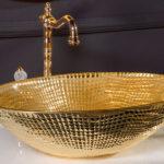 Хрустальная раковина золото 34,5*51