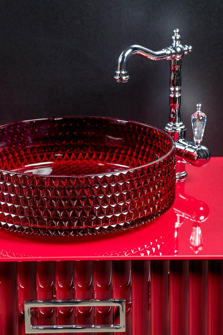 Раковина чаша круглая хрустальная 39*12см