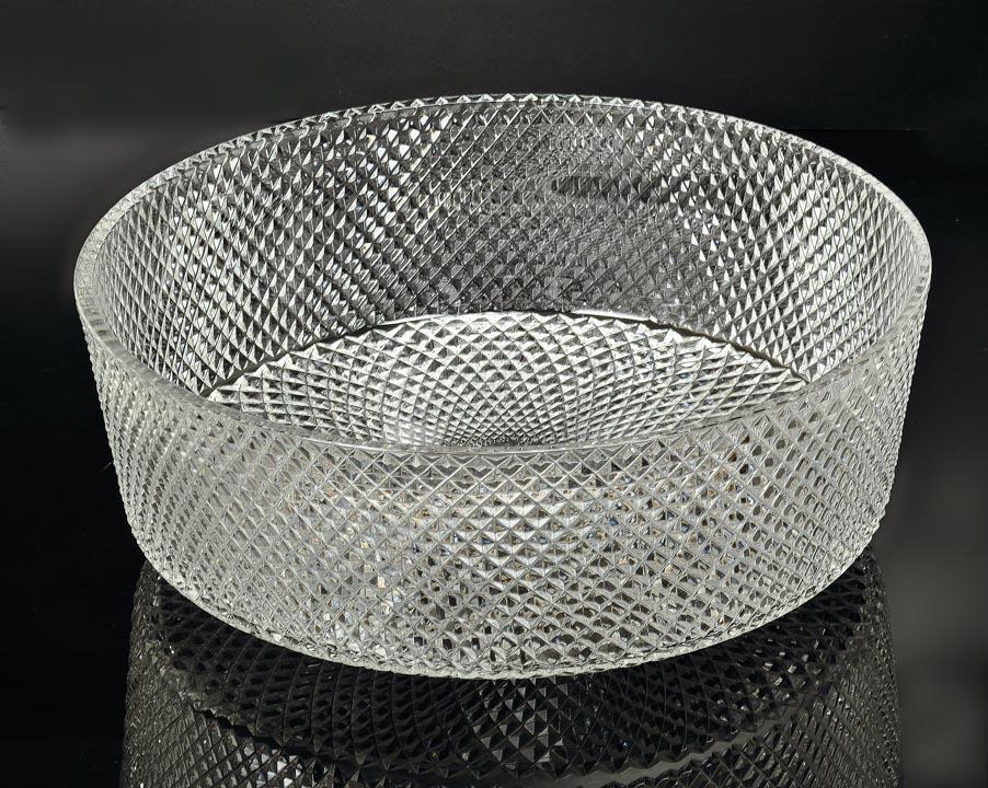 Раковина круглая хрустальная 39*12 см