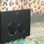 Кнопка для инсталляции, пластик BLACK CHROMO, круглая