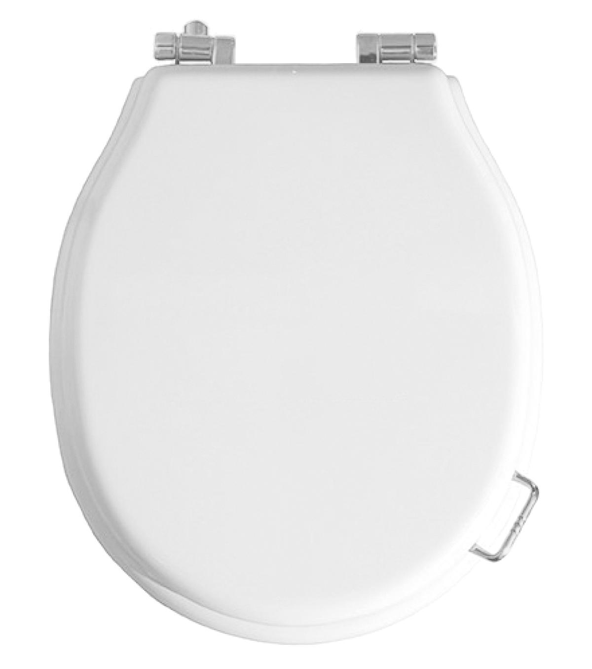 Сиденье для унитаза микролифт, белое петли хром