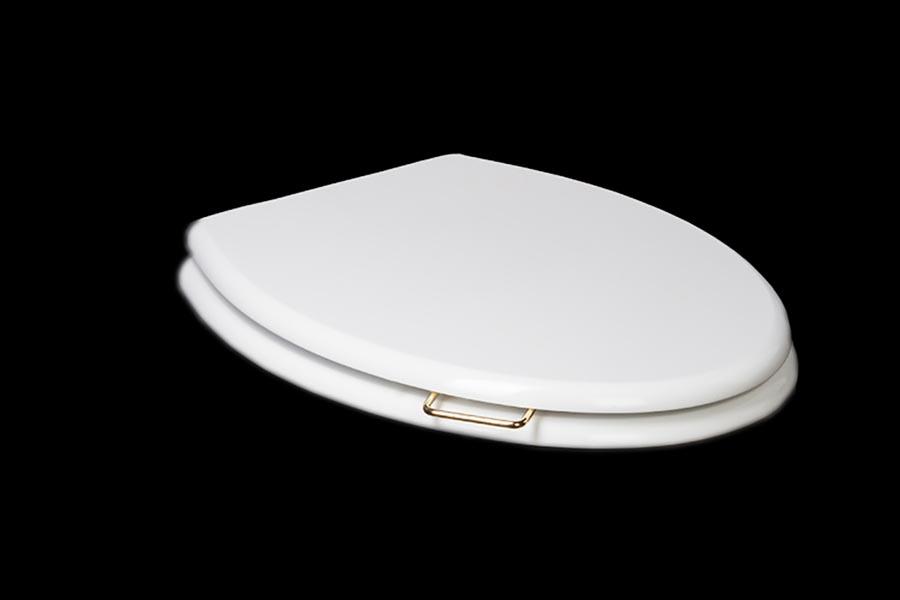 Крышка массив для унитаза Puro микролифт CHROME