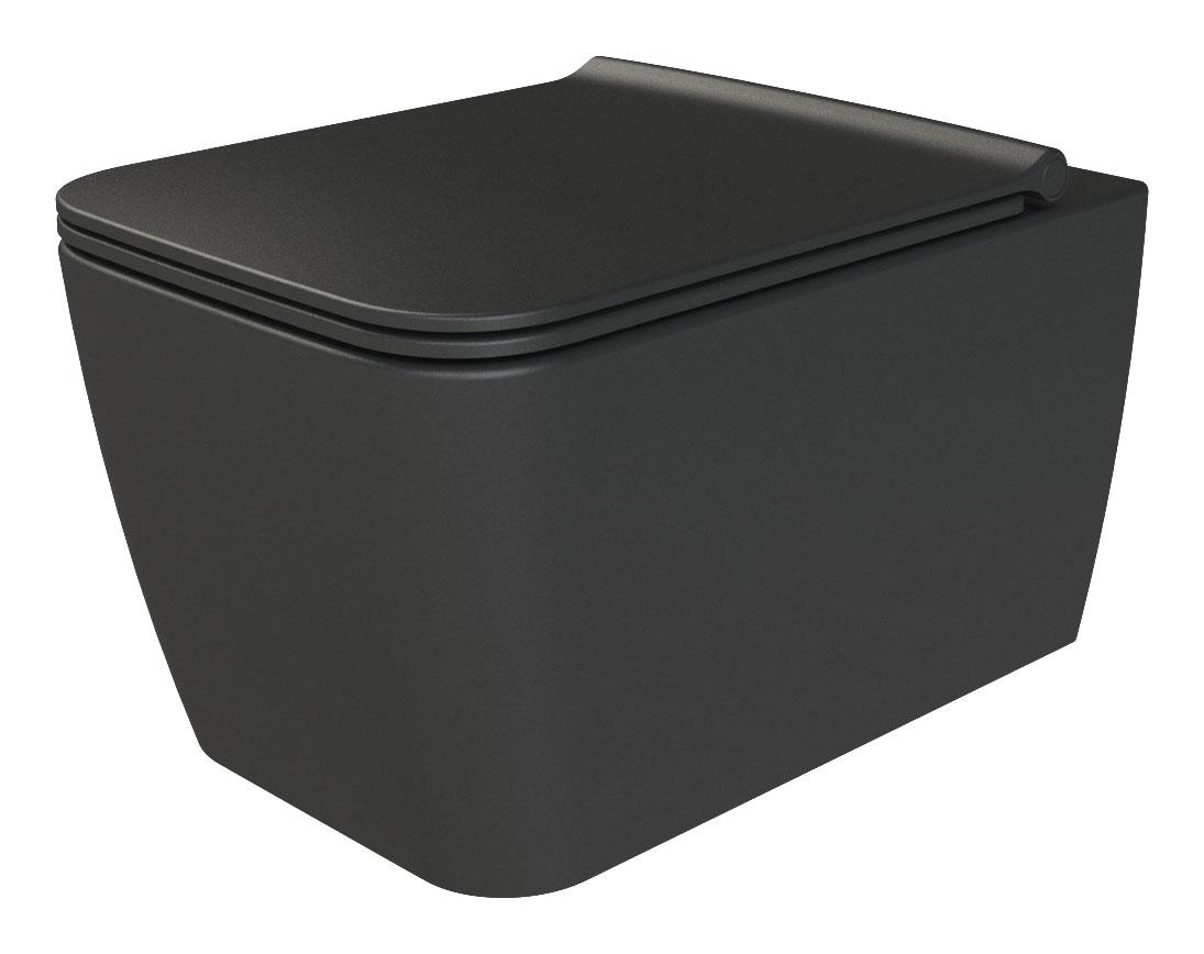 Zen подвесной унитаз матовый черный (без крышки)