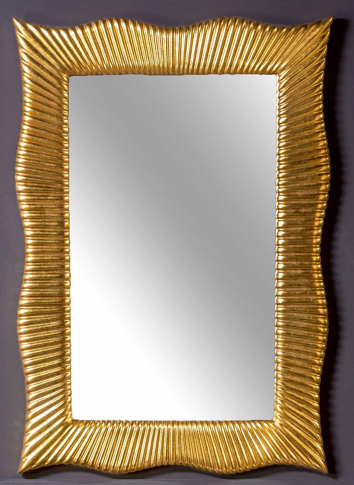 Зеркало SOHO золото 70х100 ППУ с подсветкой