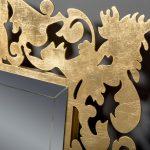 Зеркало Caprice 800х1000 поталь золото с подсветкой НЕРЖАВ