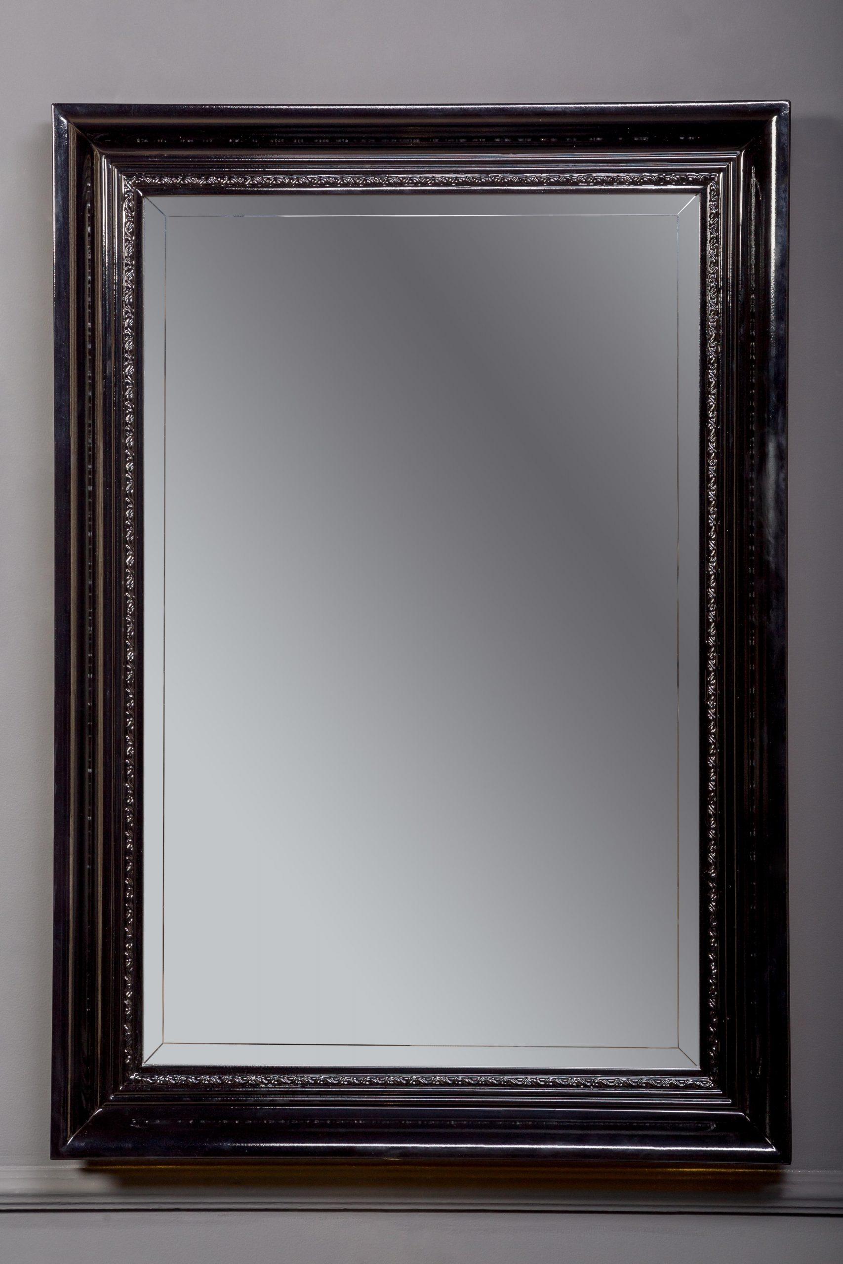 Зеркало Terso 700х1000 черный глянец с подсветкой
