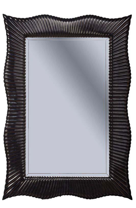 Зеркало SOHO черный глянец с подсветкой, 70х100