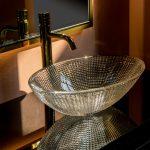 Тумба с раковиной Armadi Art Monaco 100 Черная, золото