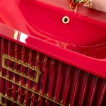 Тумба с раковиной Armadi Art Monaco 80 Бордо, золото
