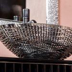 Тумба с раковиной Armadi Art Monaco 80 Черная, хром