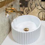 Раковина Canale рифл матовая белая